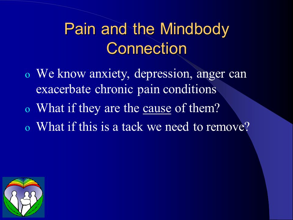 Pain and the Mindbody Connection