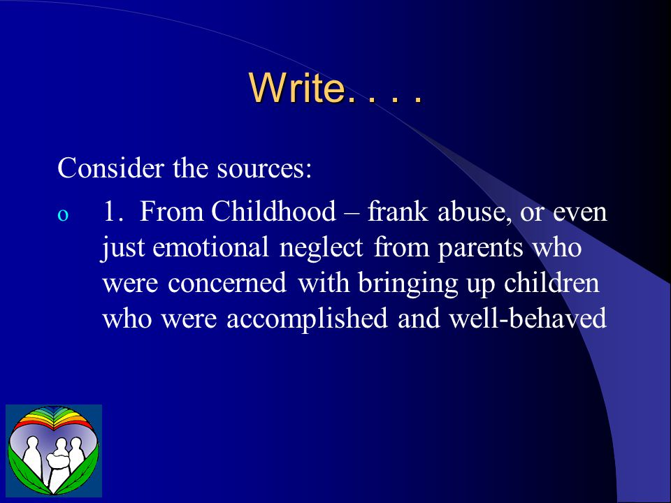 Write. . . . Consider the sources: