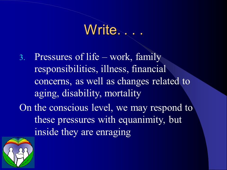 Write. . . .