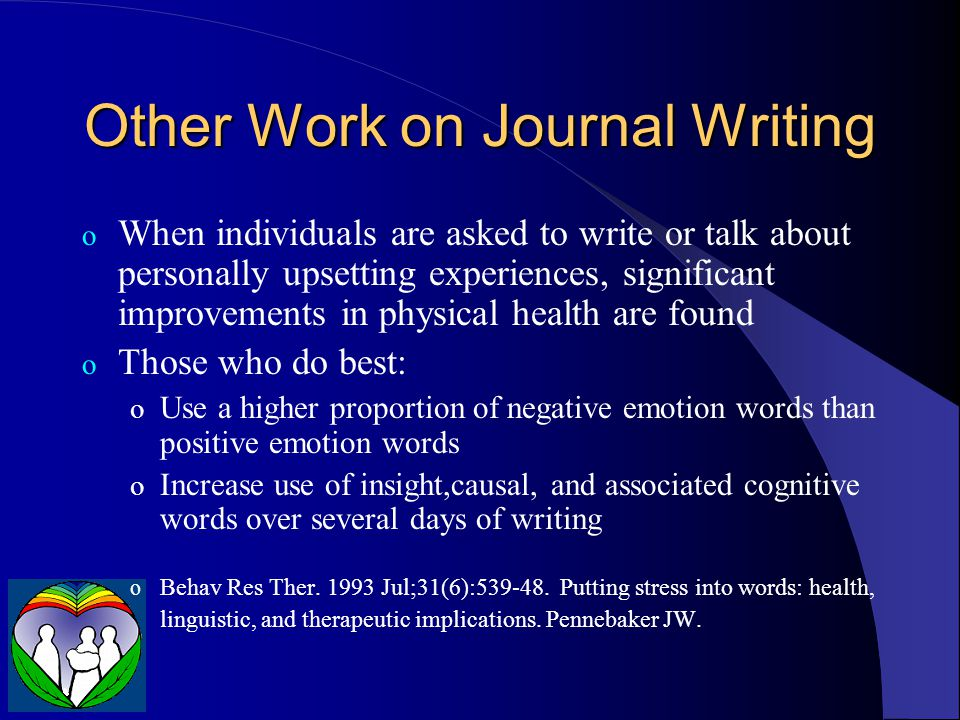 Other Work on Journal Writing