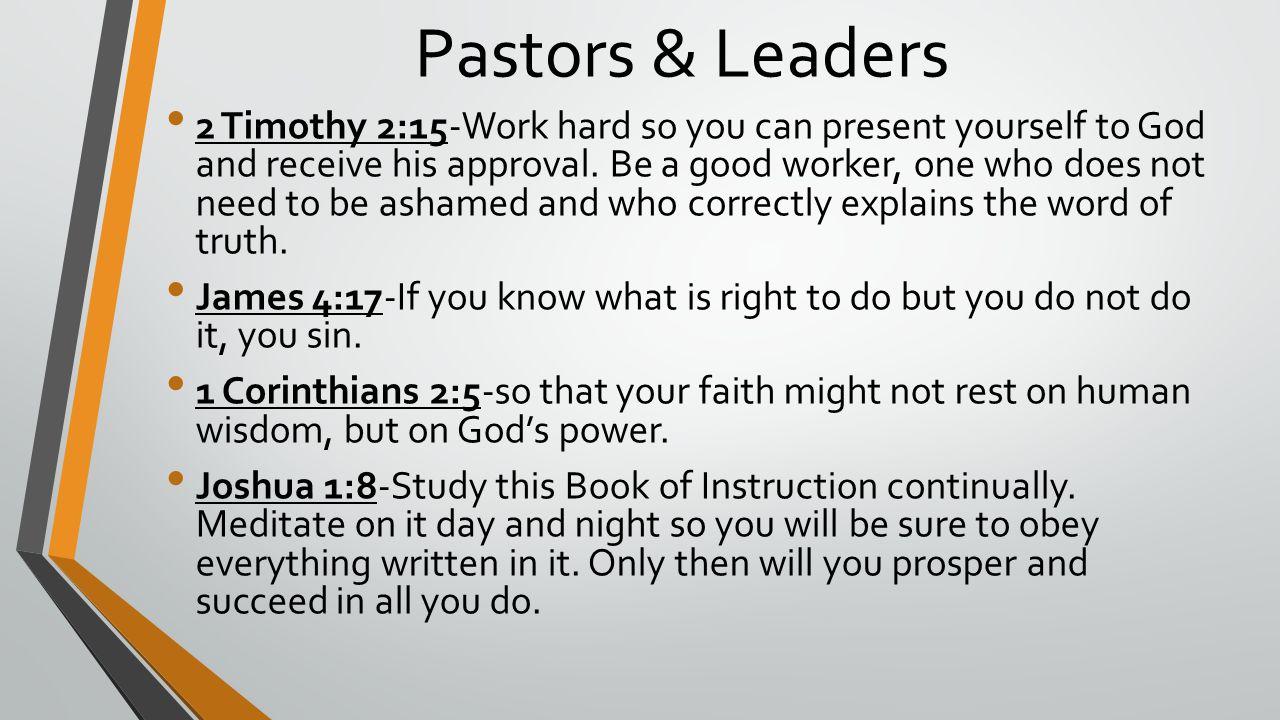 Pastors & Leaders