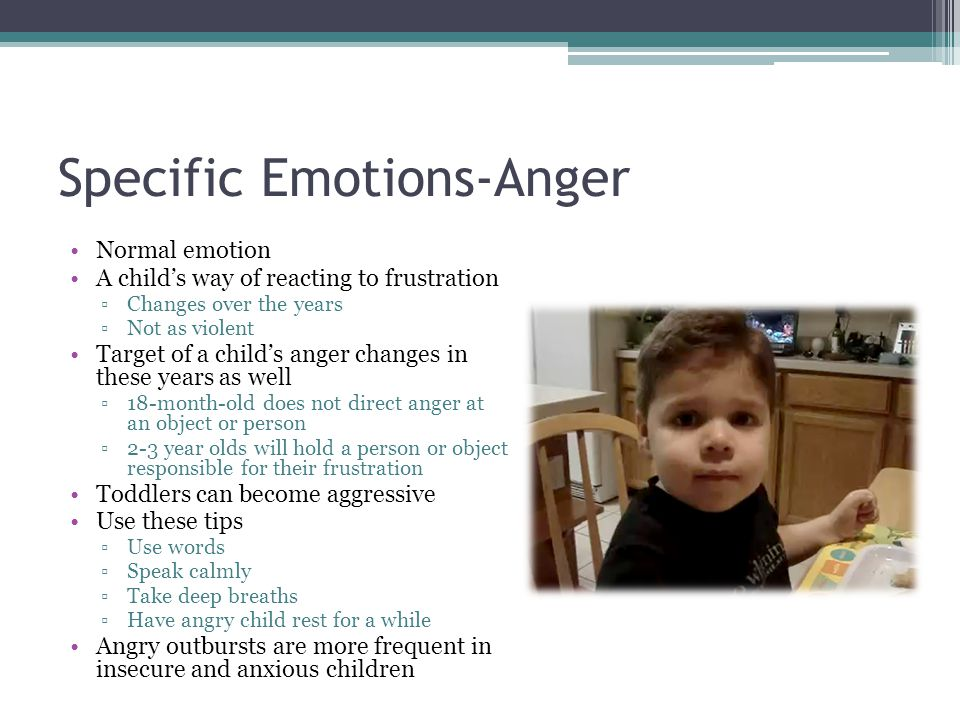 Specific Emotions-Anger