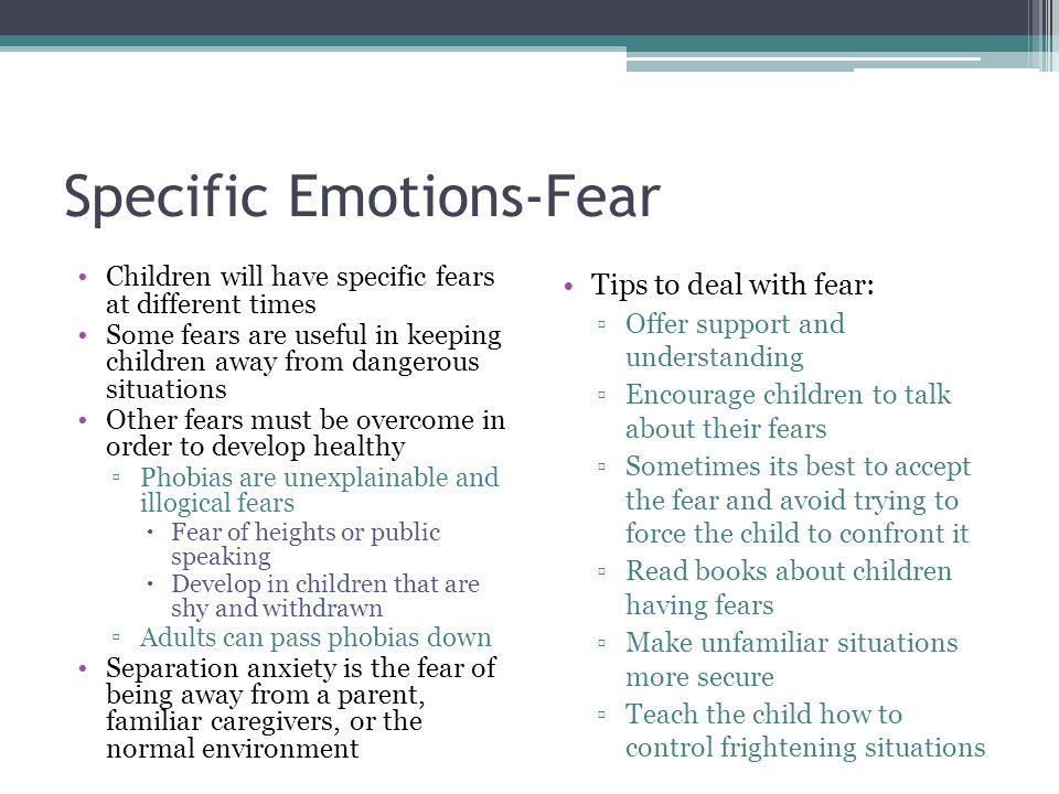 Specific Emotions-Fear