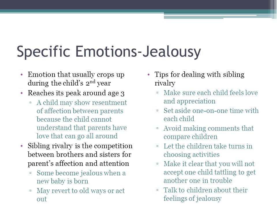 Specific Emotions-Jealousy