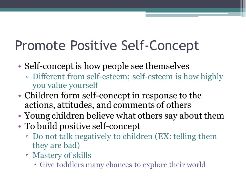 Promote Positive Self-Concept