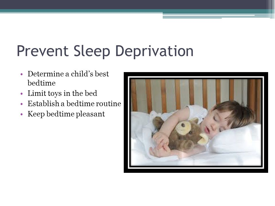 Prevent Sleep Deprivation