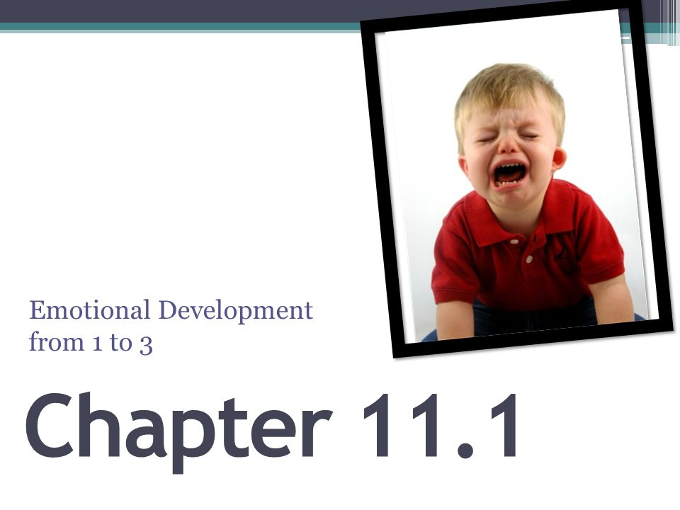 Emotional Development from 1 to 3