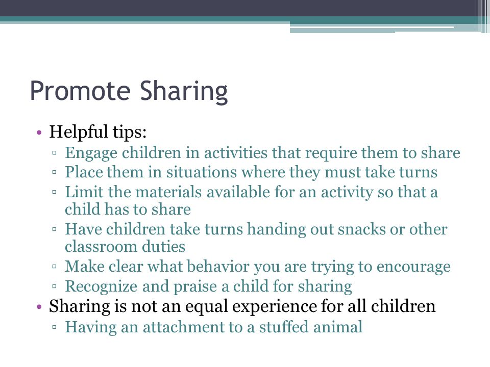 Promote Sharing Helpful tips: