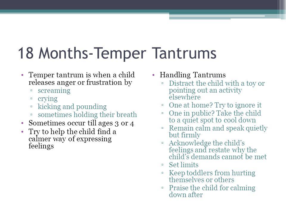 18 Months-Temper Tantrums