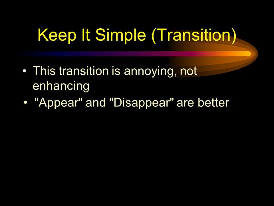 Keep It Simple (Transition)