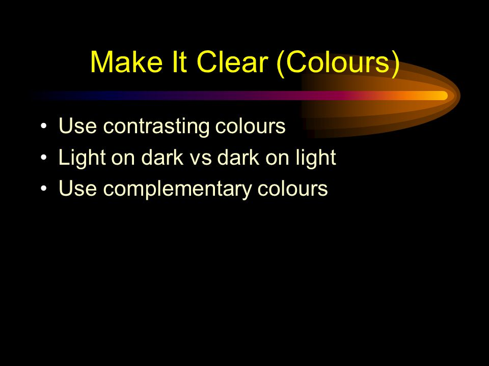 Make It Clear (Colours)