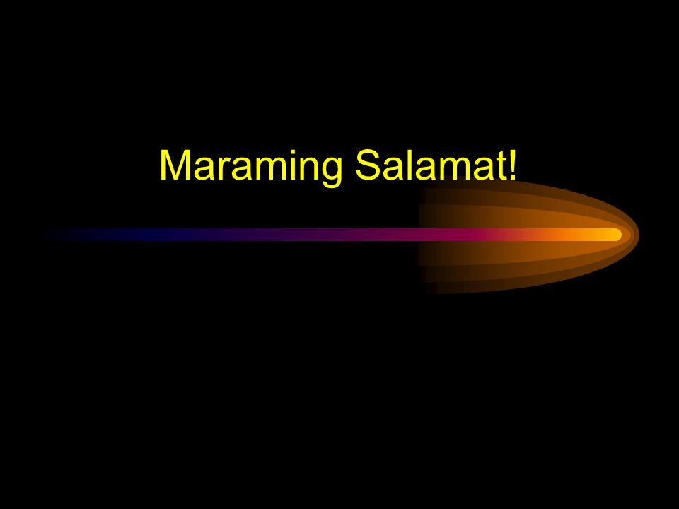 Maraming Salamat!