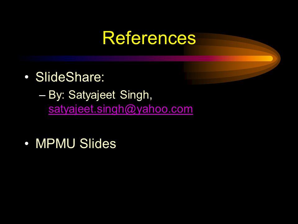 References SlideShare: MPMU Slides