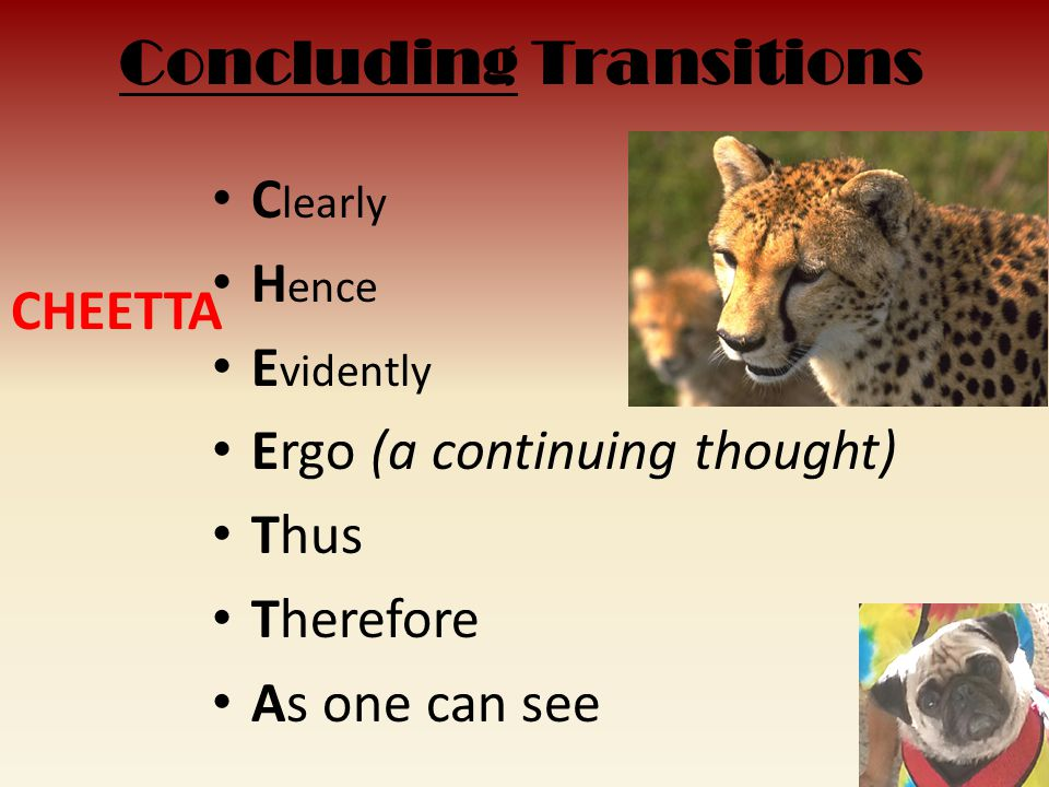 Concluding Transitions