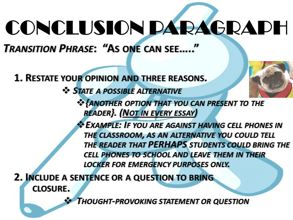 the persuasive essay ppt  39 conclusion