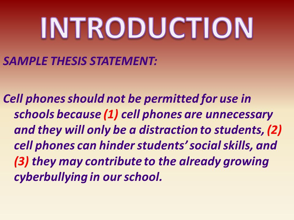 cell phone should not be allowed in school essay Cell phones should not be allowed that cell phones should be allowed in school in case of an emergency, but you don't need to have your phone in the.