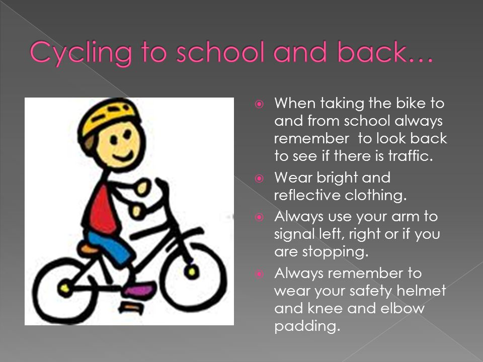 Cycling to school and back…