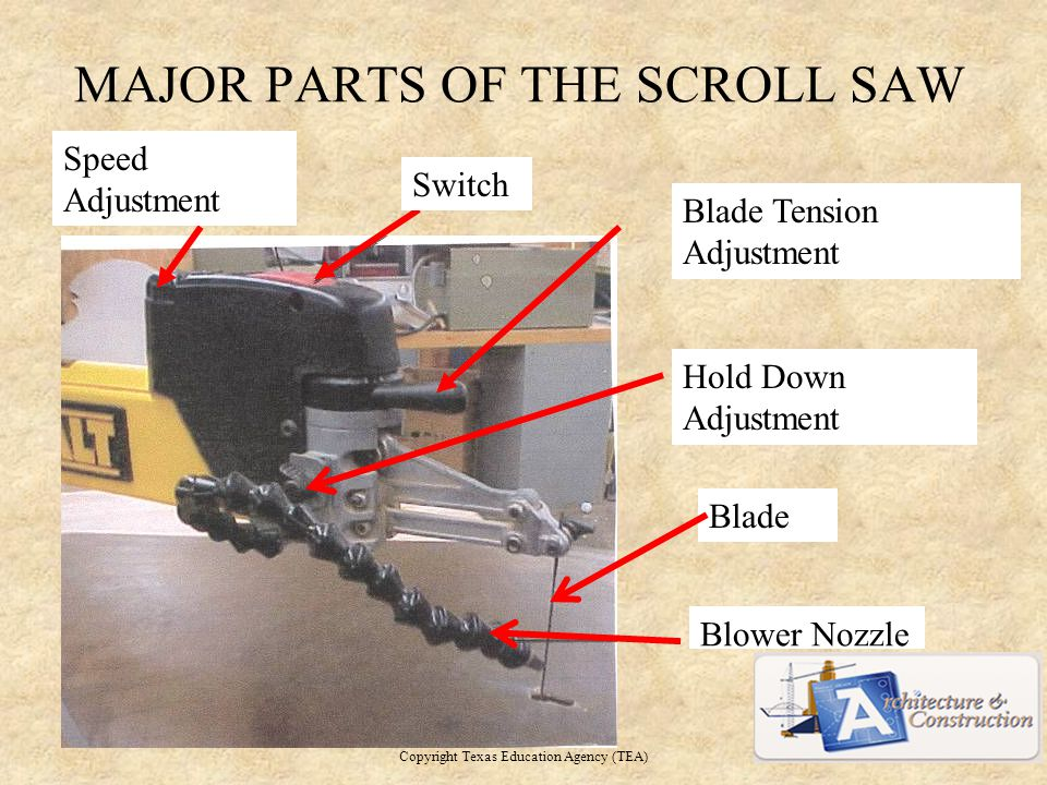 MAJOR PARTS OF THE SCROLL SAW