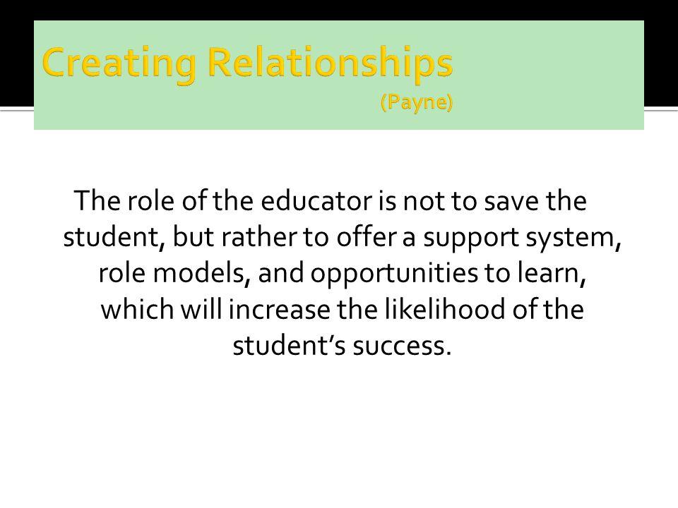 Creating Relationships (Payne)