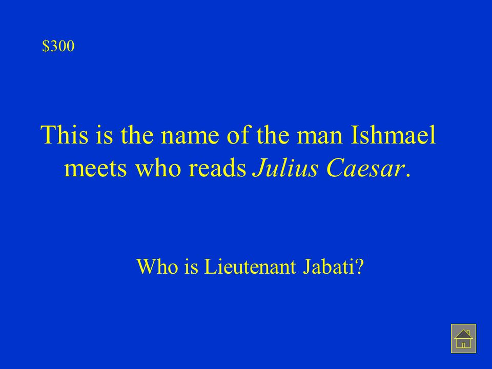 This is the name of the man Ishmael meets who reads Julius Caesar.