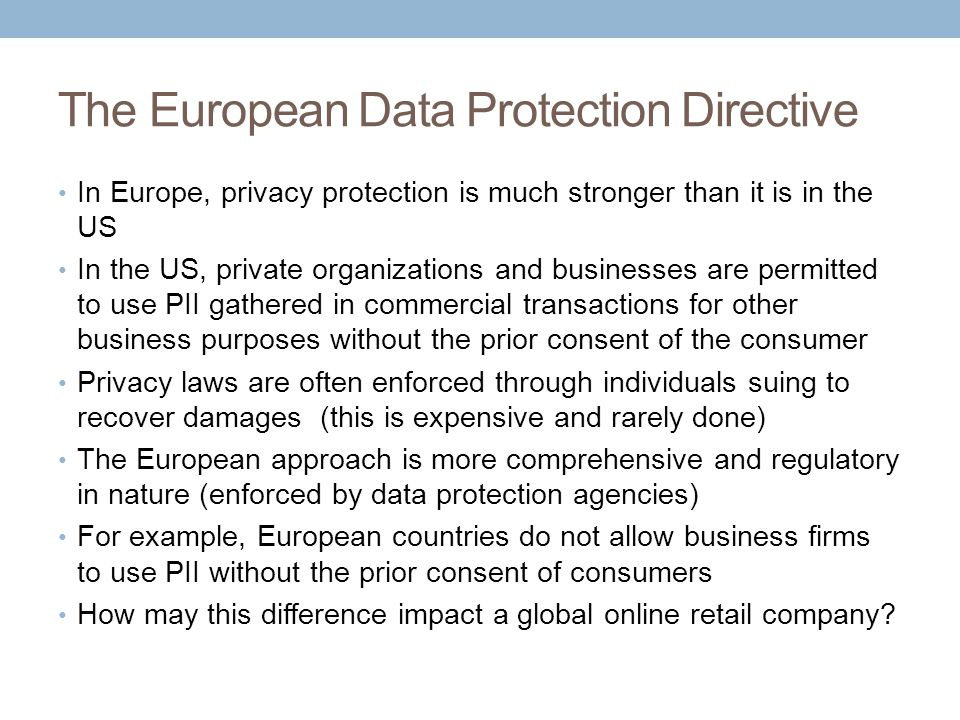 The European Data Protection Directive