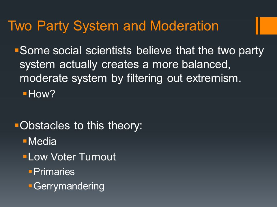Two Party System and Moderation