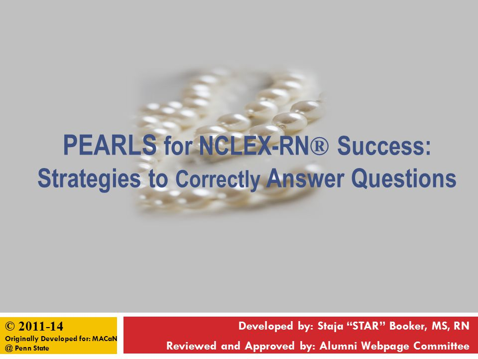 Pearls for NCLEX-RN® Success: Strategies to Correctly Answer Questions