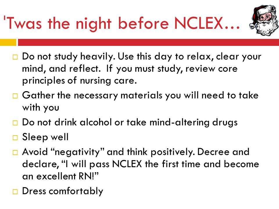 ˈTwas the night before NCLEX…