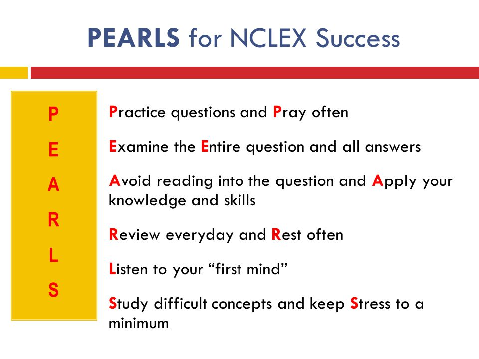 PEARLS for NCLEX Success