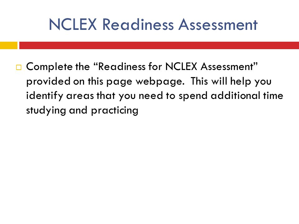 NCLEX Readiness Assessment