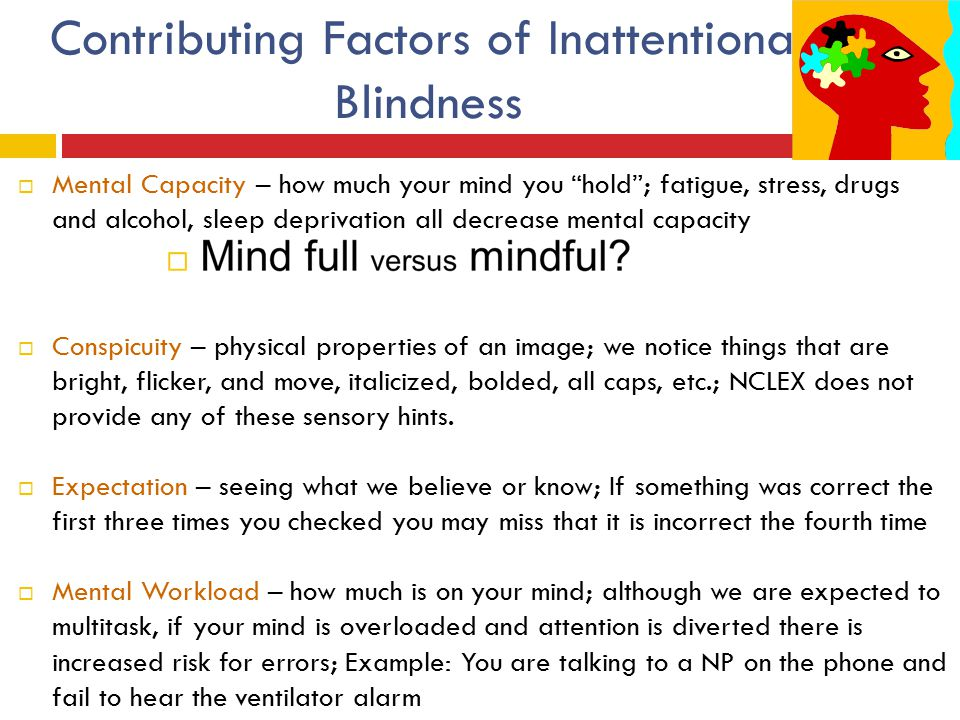 Contributing Factors of Inattentional Blindness