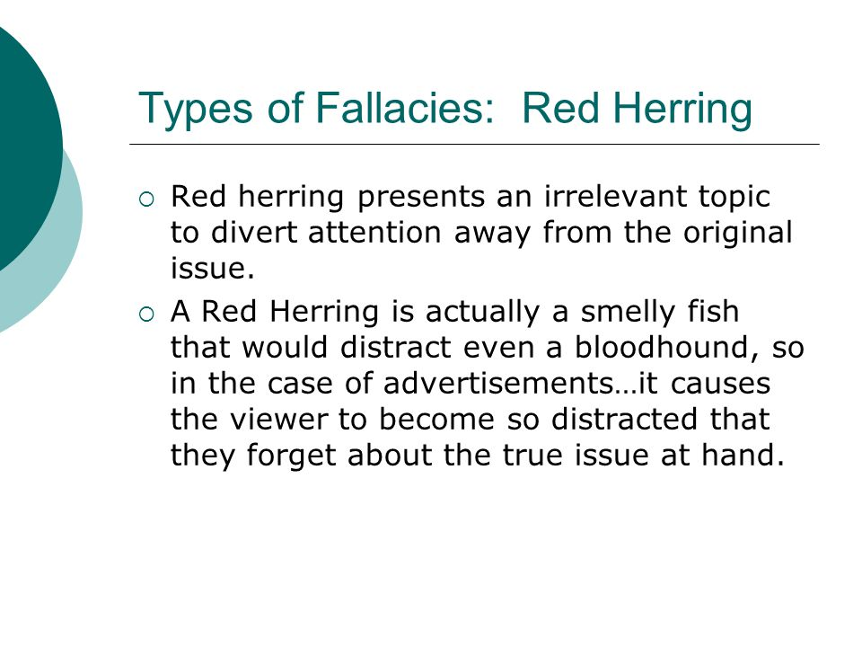 Types of Fallacies: Red Herring