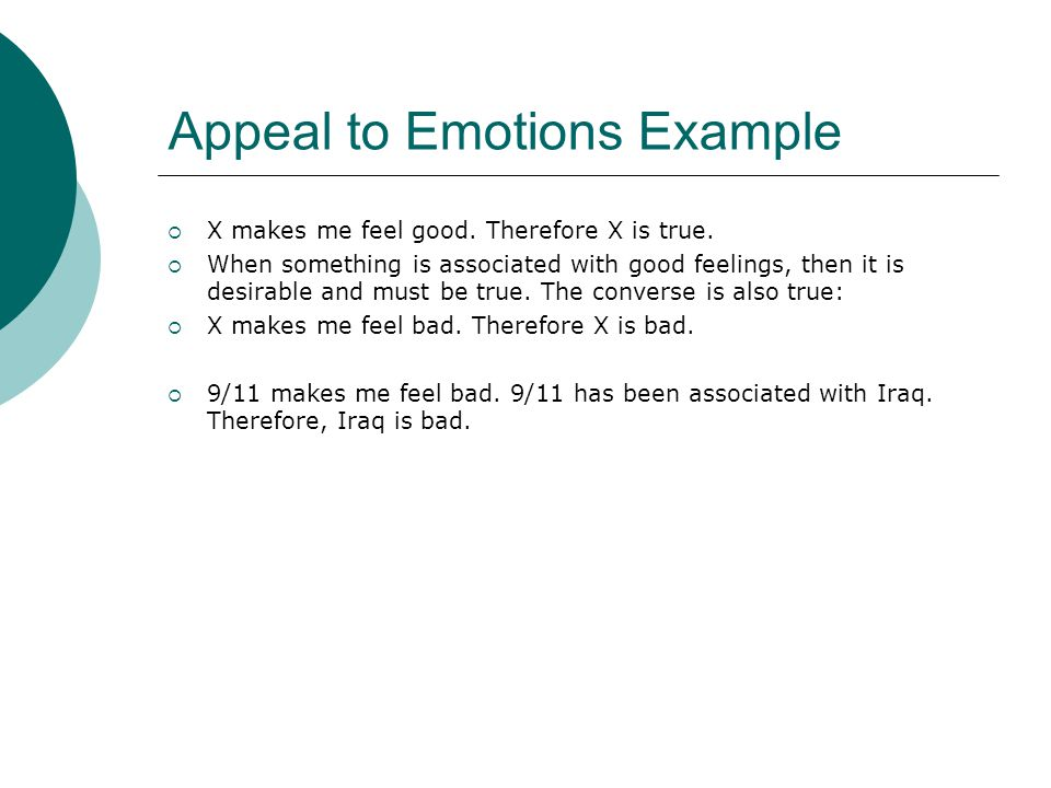 Appeal to Emotions Example