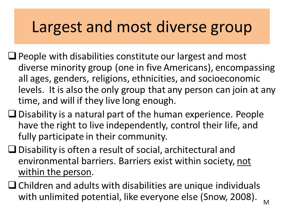 Largest and most diverse group