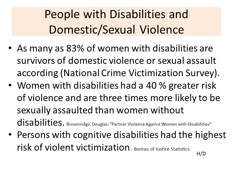 People with Disabilities and Domestic/Sexual Violence