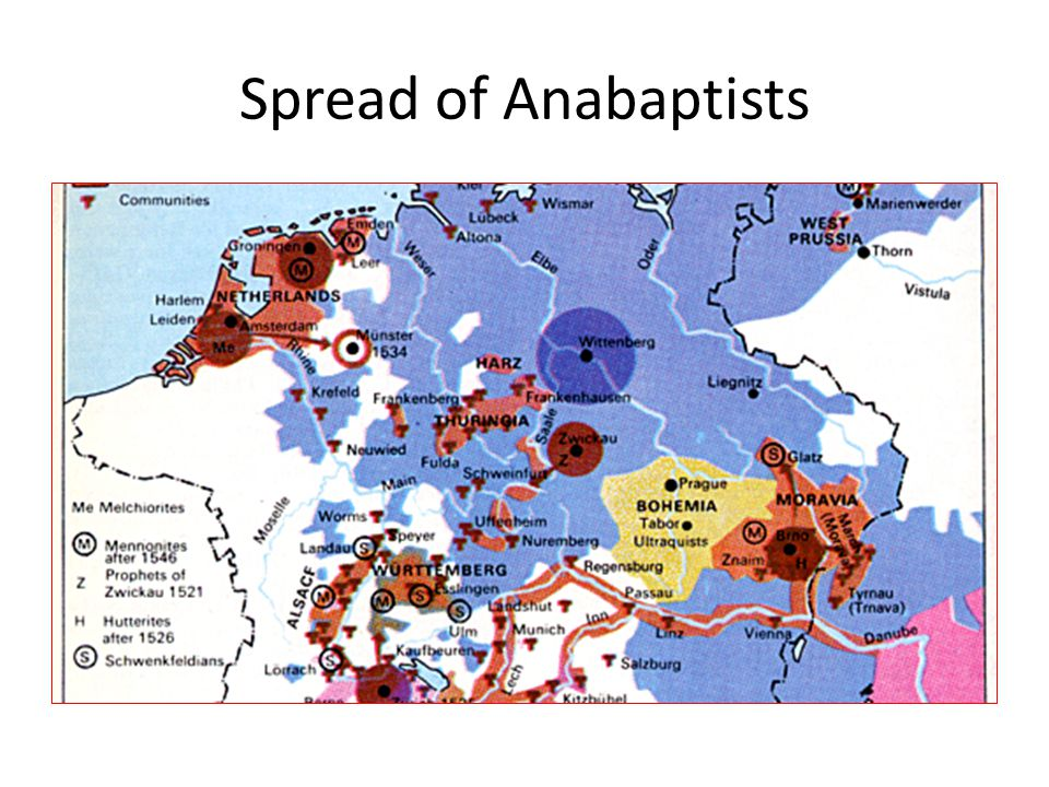 Spread of Anabaptists