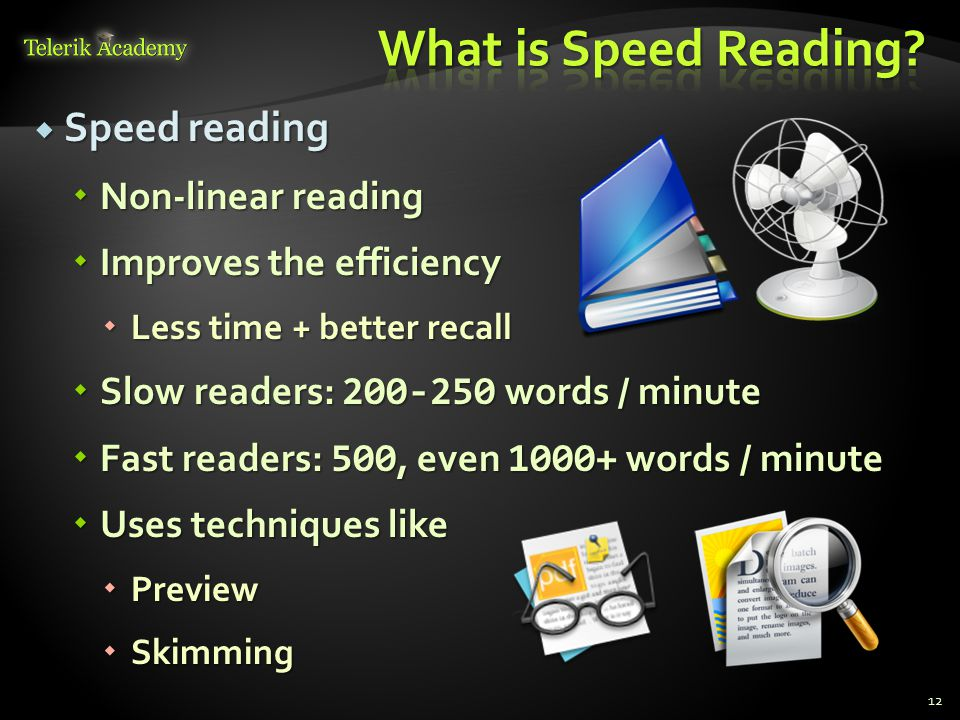 What is Speed Reading Speed reading Non-linear reading