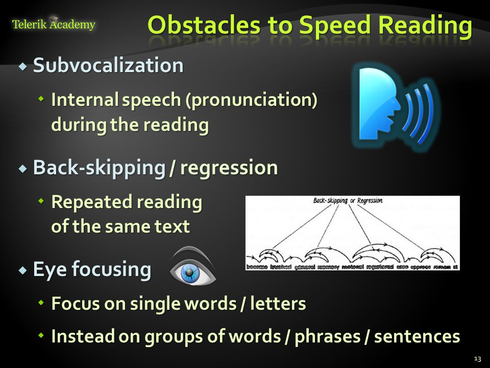 Obstacles to Speed Reading