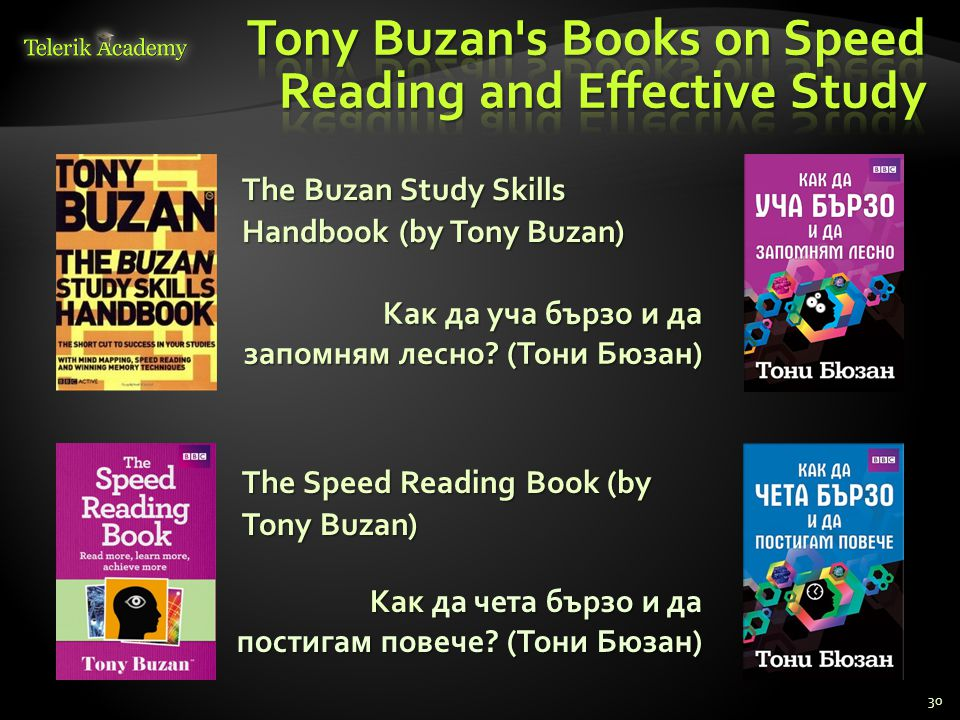 Tony Buzan s Books on Speed Reading and Effective Study