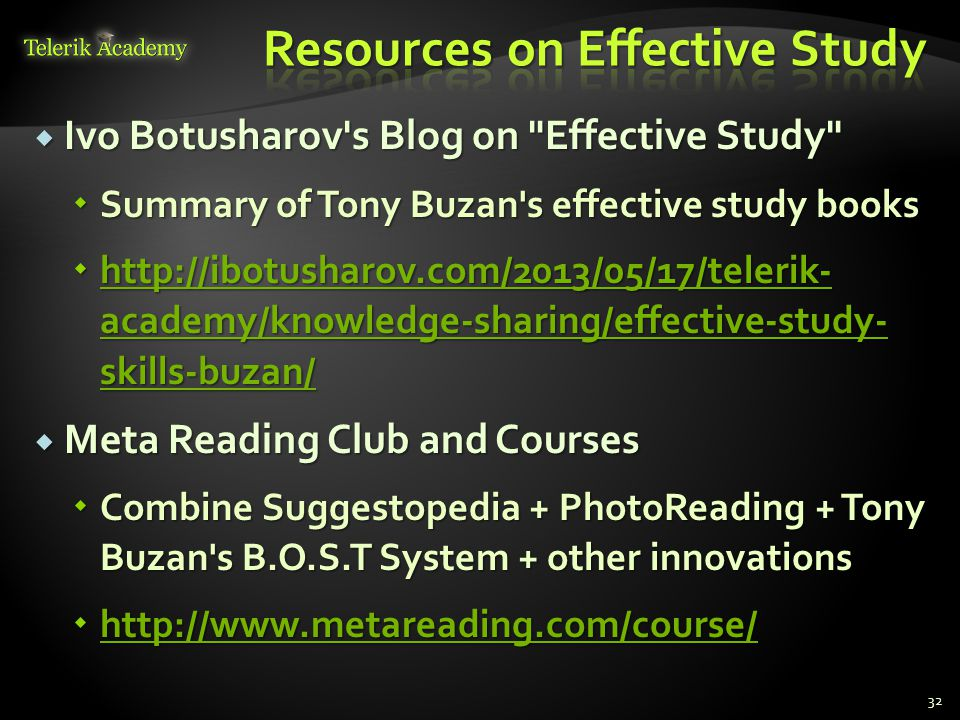 Resources on Effective Study