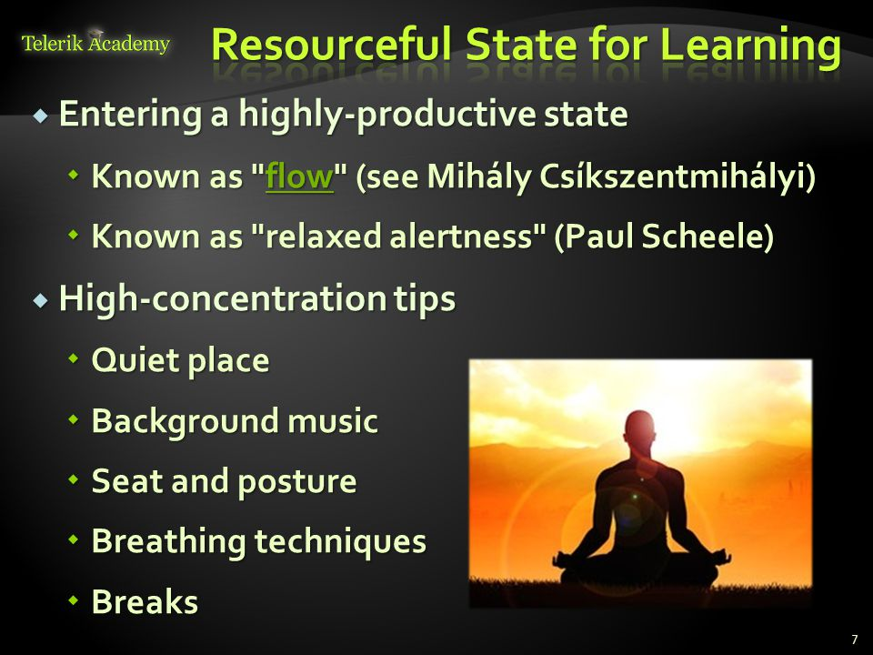 Resourceful State for Learning