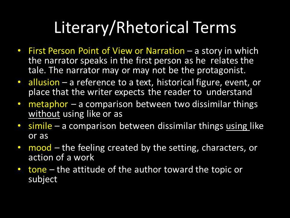 Literary/Rhetorical Terms
