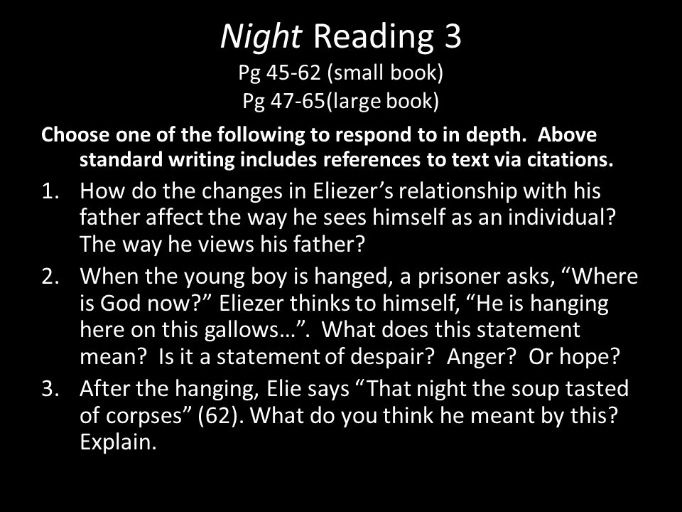 Night Reading 3 Pg 45-62 (small book) Pg 47-65(large book)