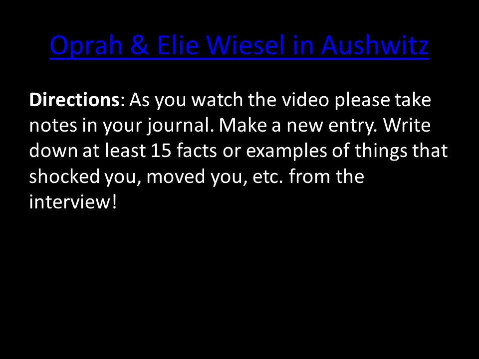 Oprah & Elie Wiesel in Aushwitz