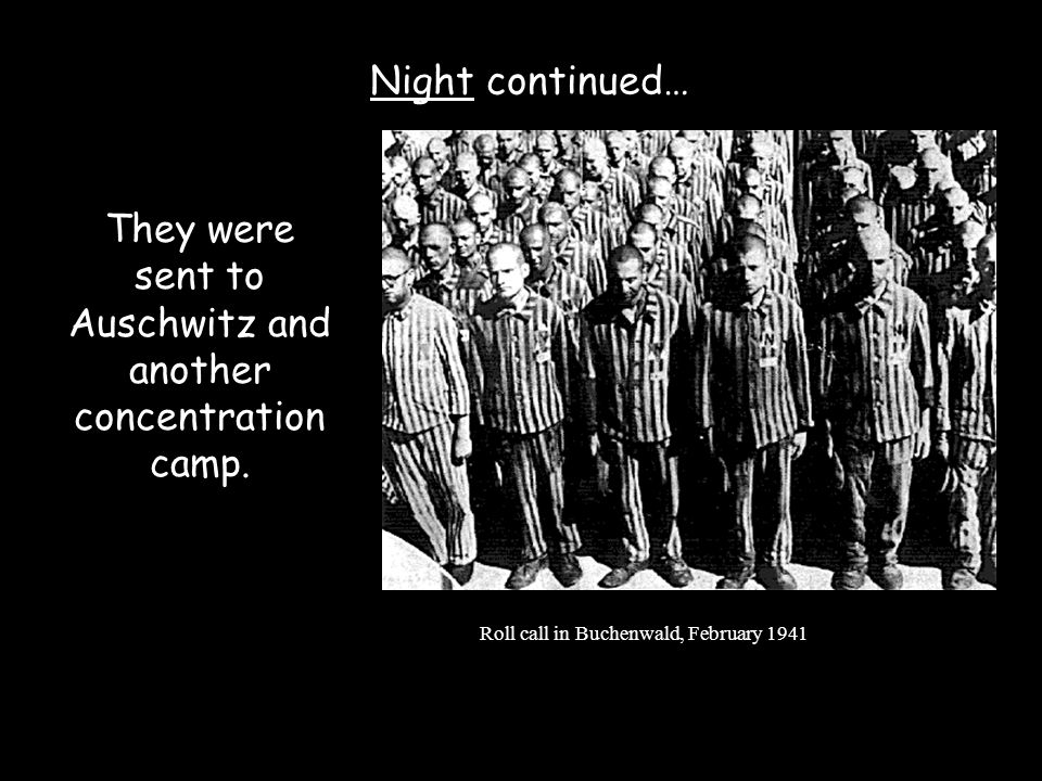 They were sent to Auschwitz and another concentration camp.