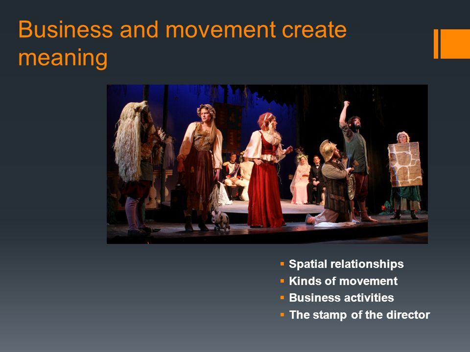 Business and movement create meaning