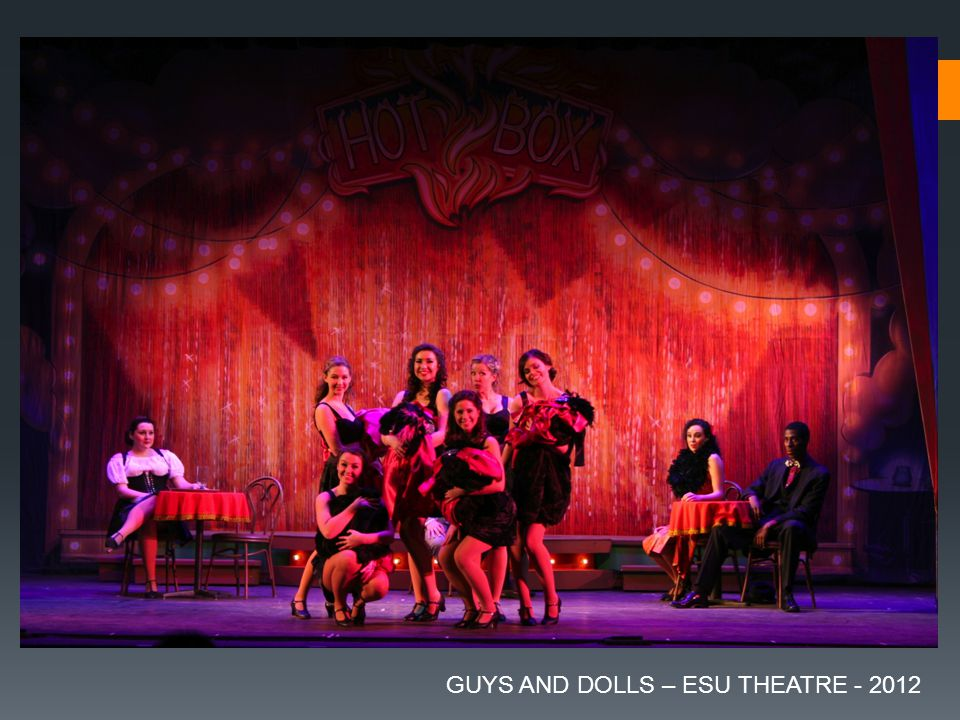 GUYS AND DOLLS – ESU THEATRE - 2012