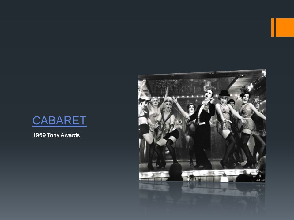 CABARET 1969 Tony Awards
