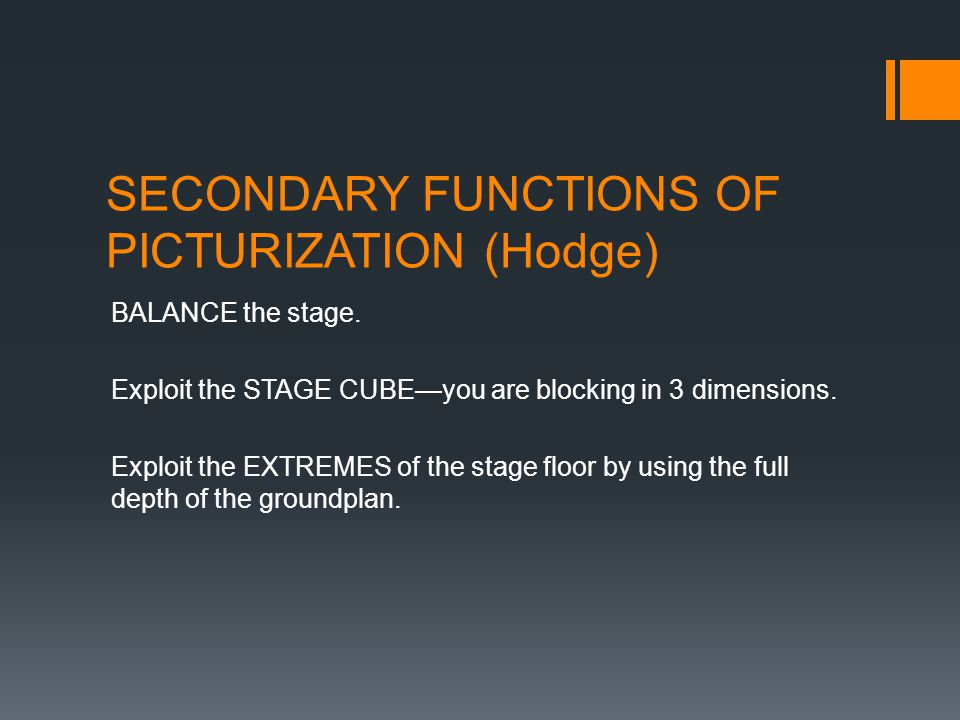 SECONDARY FUNCTIONS OF PICTURIZATION (Hodge)