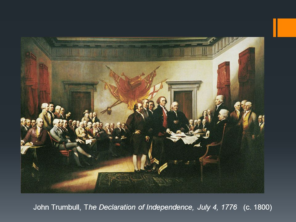 John Trumbull, The Declaration of Independence, July 4, 1776 (c. 1800)